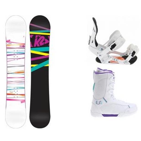 2 First Lite Snowboard W / Plush Boots & Ride Lxh Bindings U.S.A. & Canada