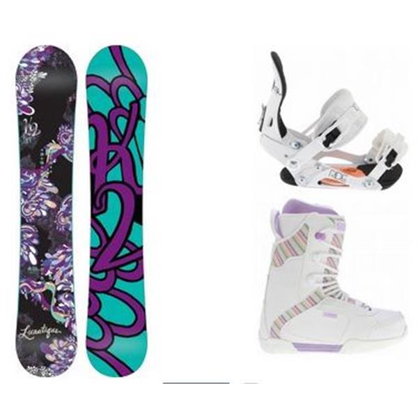 2 Lunatique Snowboard W / Range Boots & Ride Lxh Bindings U.S.A. & Canada