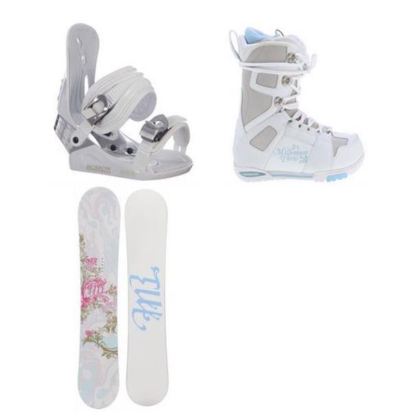 M3 rystal Snowboard W / White Boots & Morrow Lotus Bindings U.S.A. & Canada