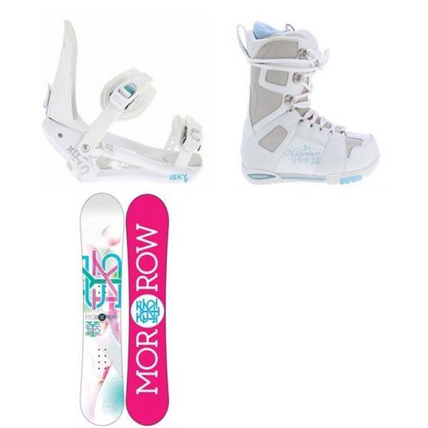 Morrow Sky Snowboard W / M3 White Boots & Sky Bindings U.S.A. & Canada