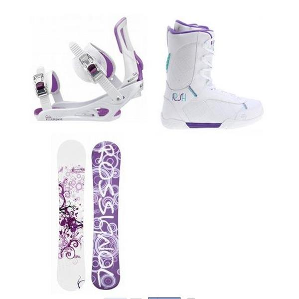 Rossignol Gala Amptek Snowboard W / 2 Plush Boots & Rossignol Gala Bindings U.S.A. & Canada