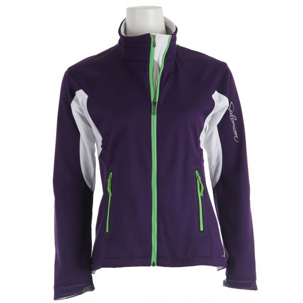 Salomon Active Iii Softshell Cross Country Ski Jacket Eggplant / White U.S.A. & Canada