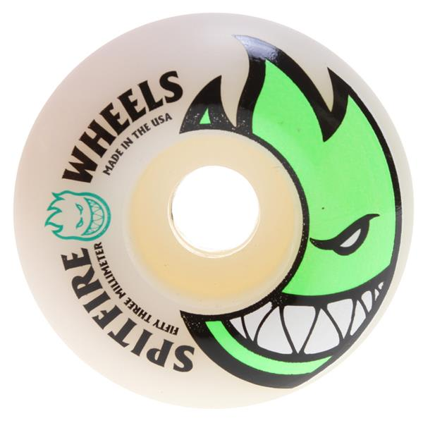 Spitfire Bighead Skateboard Wheels White / Green 53Mm U.S.A. & Canada