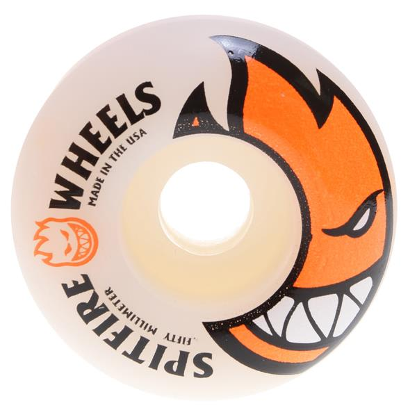 Spitfire Bighead Skateboard Wheels White / Orange 50Mm U.S.A. & Canada