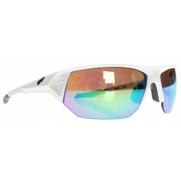 Spy Alpha Sunglasses White / Bronze / Green Spectra Lens U.S.A. & Canada