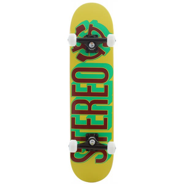 Stereo Brush Skateboard Complete Rasta U.S.A. & Canada