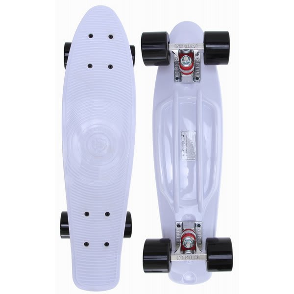 Stereo eep A Breast I Love Boobies Cruiser Longboard Complete White / Black U.S.A. & Canada
