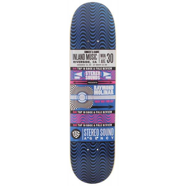Stereo Moliner Handbill Skateboard Deck Black / Blue U.S.A. & Canada