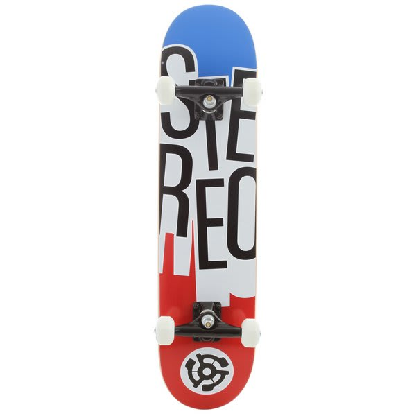 Stereo Stacked Skateboard Complete Red / White / Blue U.S.A. & Canada