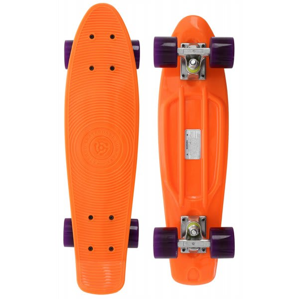 Stereo Vinyl Cruiser Skateboard Complete Orange / Translucent Purple U.S.A. & Canada