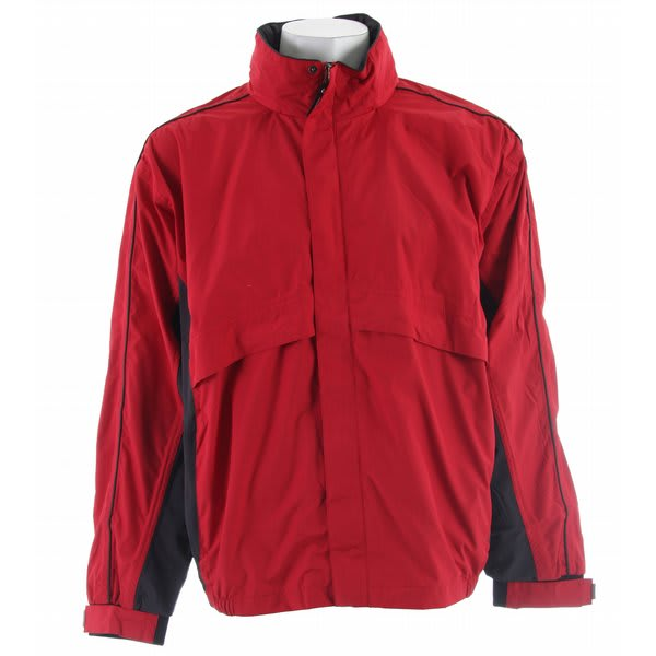 Stormtech Trident Microflex Rainshell Jacket Red / Granite U.S.A. & Canada
