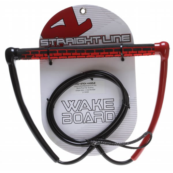 Straight Line Ugly Stick Wakeboard Handle Red U.S.A. & Canada