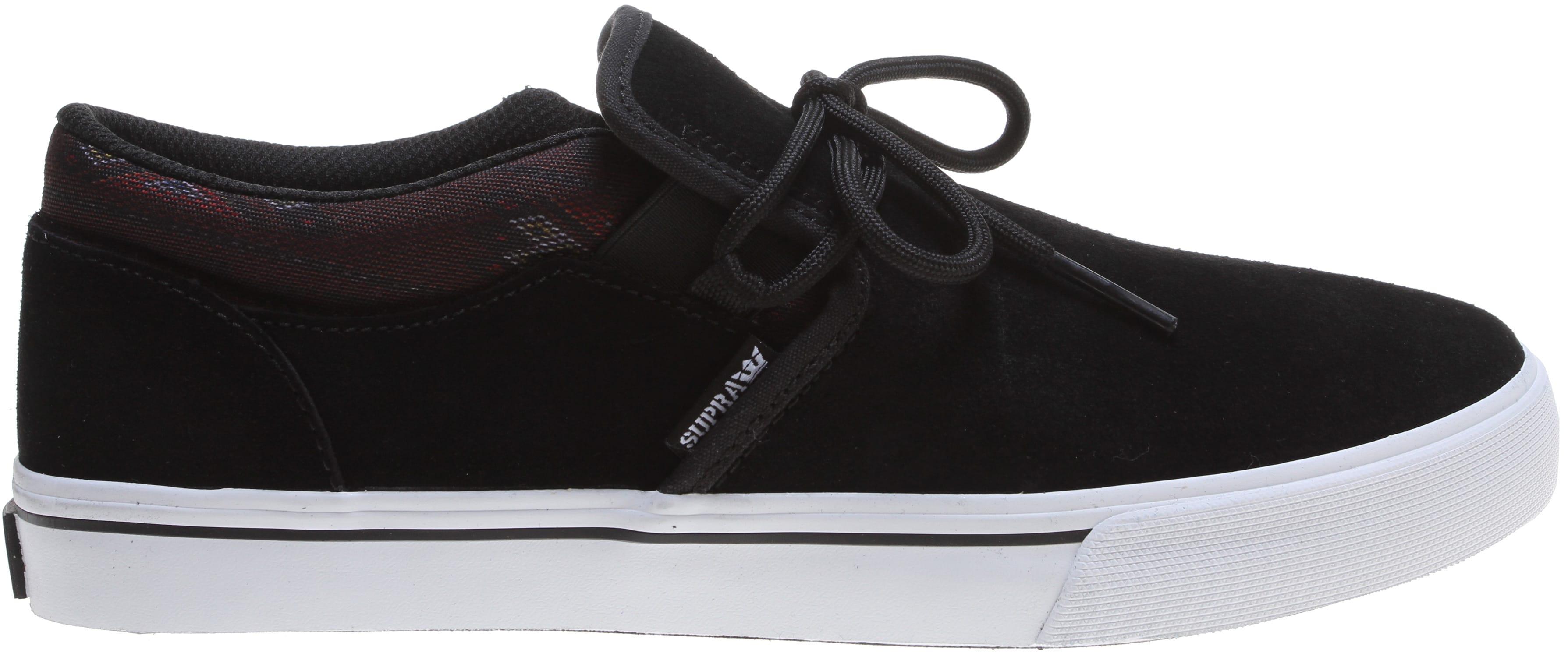 Supra Mens Cuba Black White Skate Shoes 7Gi4EL1zo