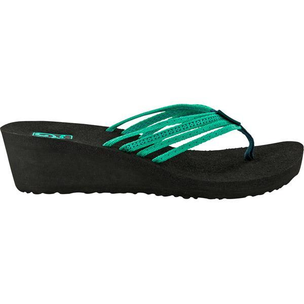 Teva Mush Adapto Wedge Sandals Studded Neon Green U.S.A. & Canada