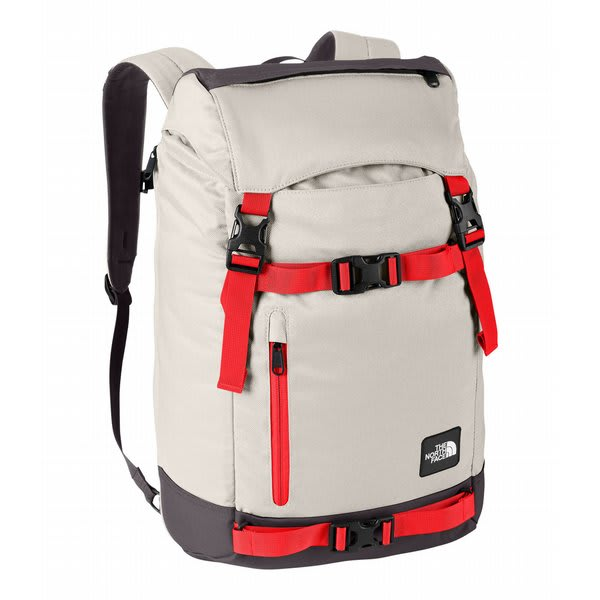 The North Face Pre Hab Backpack Ether Grey / Fiery Red U.S.A. & Canada