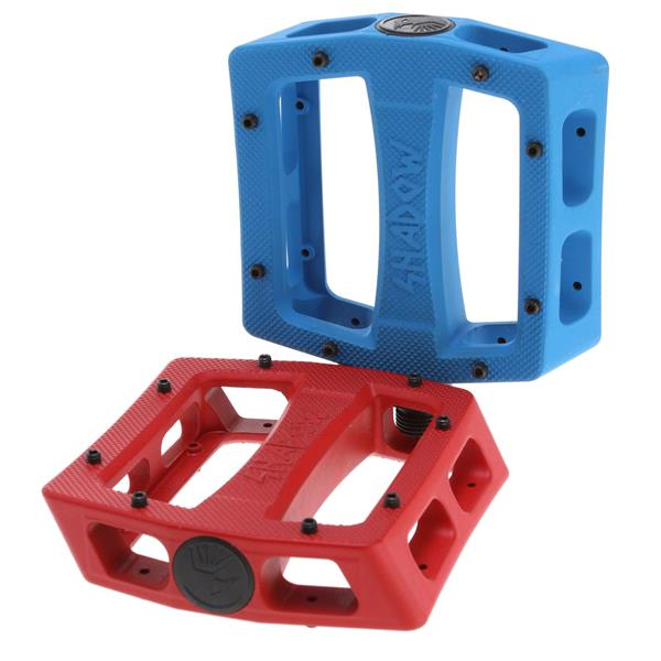 "The Shadow Conspiracy Ravager Alloy Loose Ball Bike Pedals Red 9 / 16"" U.S.A. & Canada"