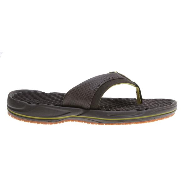 The North Face Base Camp Pro Sandals Coffee Brown / Citronelle Green U.S.A. & Canada