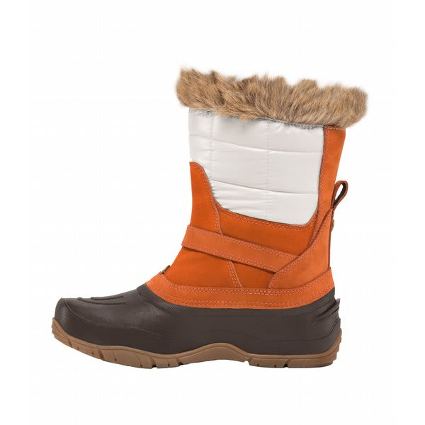 The North Face Shellista Pull On Boots Shiny Moonlight Ivory / Leather Brown U.S.A. & Canada