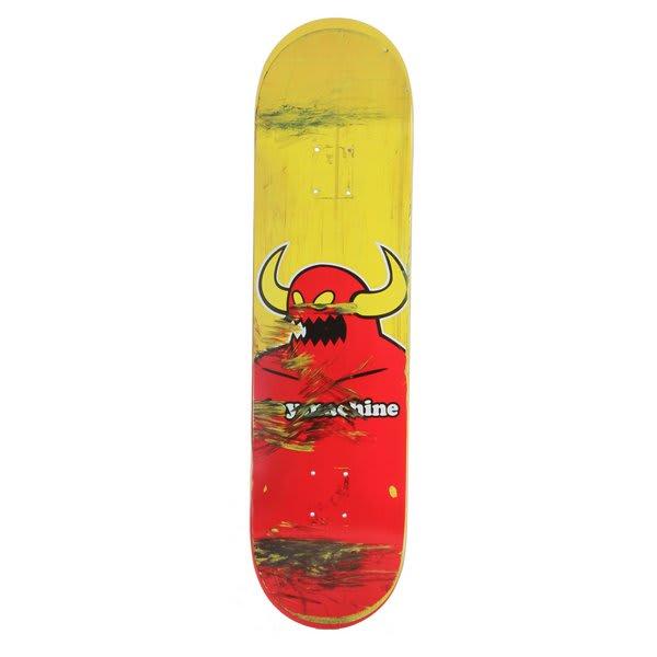 Skateboard Uses: Toy Machine Used Monster Face Skateboard Deck