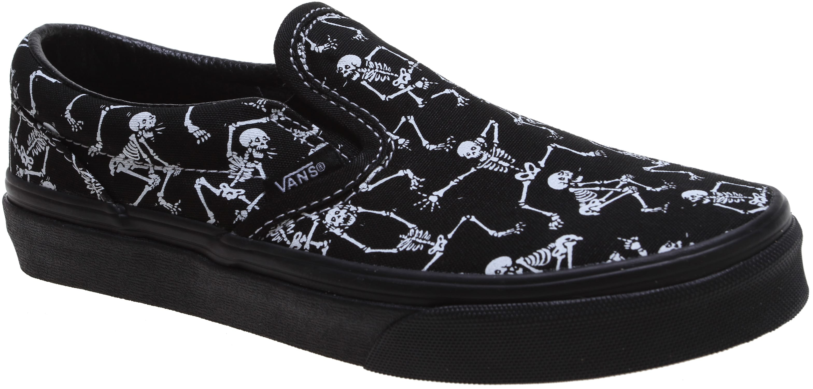 c4f1e897157c55 Vans Classic Slip-On (Bone Dance) Skate Shoes - thumbnail 2