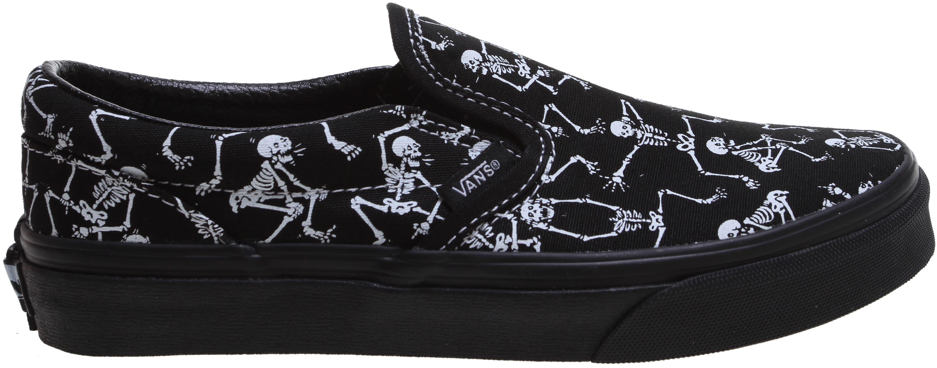 Vans Classic Slip On Bone Dance Skate Shoes Kids Youth