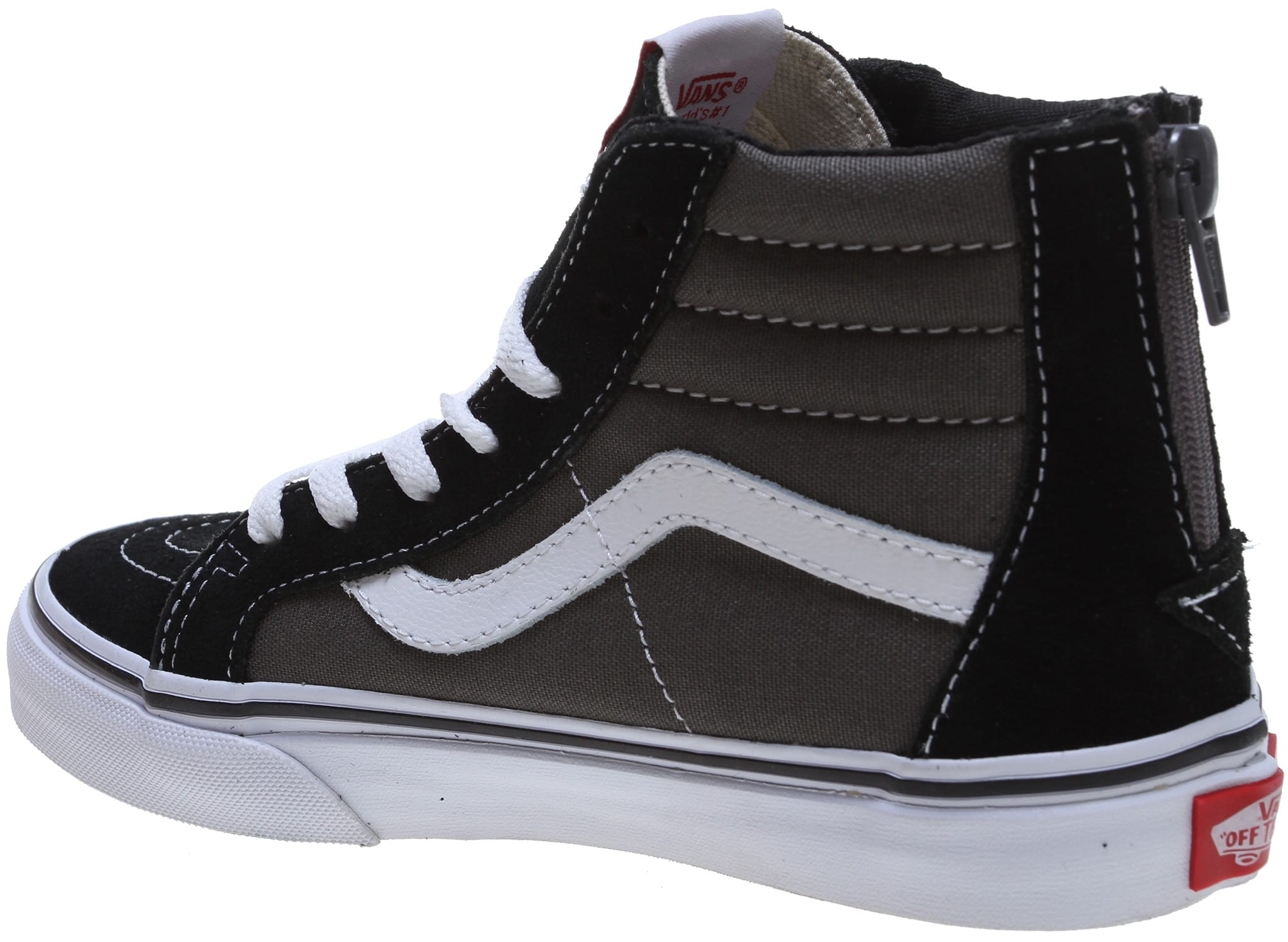 Vans Sk8-Hi Zip Sneaker(Children's) -Black/Charcoal Pictures Sale Online Outlet Authentic X808T