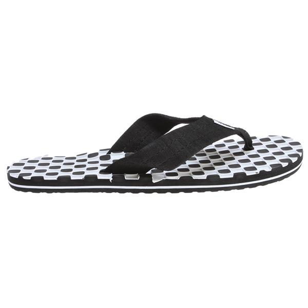 Vans Thresher Sandals (Checkerboard) Black / White / Black U.S.A. & Canada