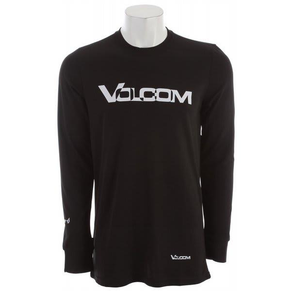 Volcom Stock Hunter Riding Crew Baselayer Top Black U.S.A. & Canada