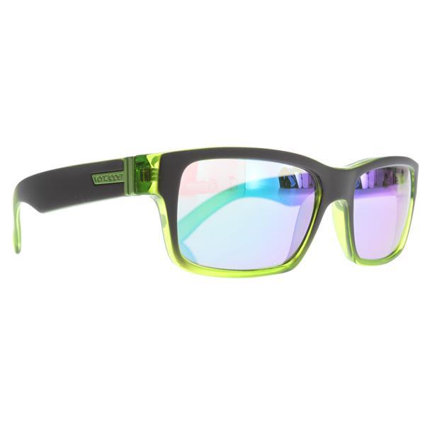 Vonzipper Fulton Sunglasses Black Green Glacier / Quasar Glo Lens U.S.A. & Canada