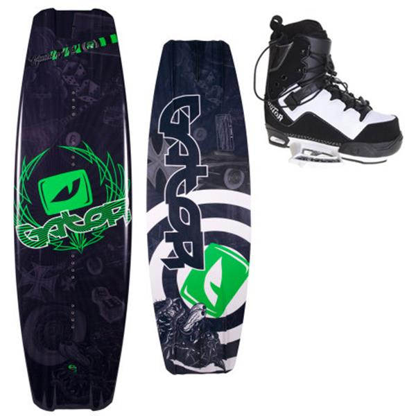 Gator Boards Caddy Wakeboard W / Gator Boards Gator Ct Wakeboard Bindings U.S.A. & Canada