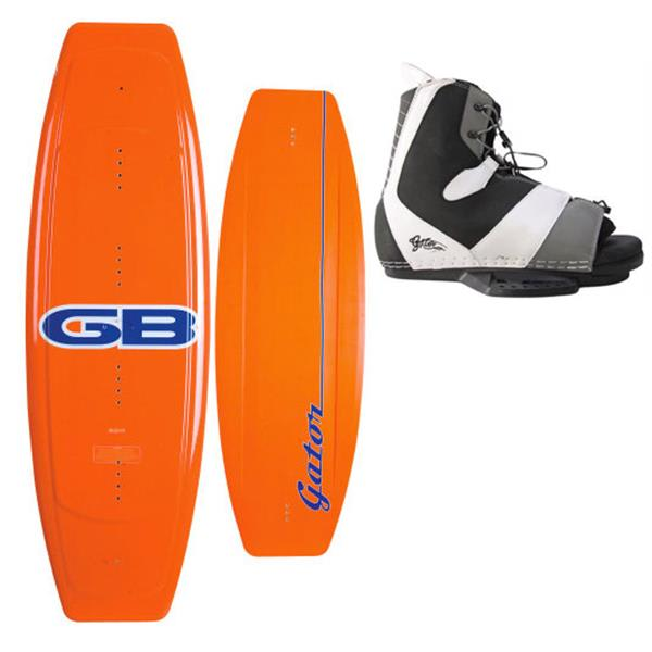 Gator Boards Classic Wakeboard W / Gator Boards Team Wakeboard Bindings Black / White U.S.A. & Canada