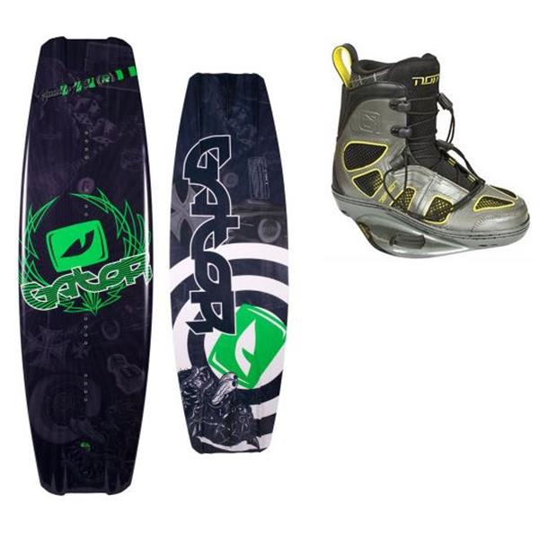 Gator Boards Caddy Wakeboard 142 W / O' Brien Nomad Wakeboard Bindings U.S.A. & Canada