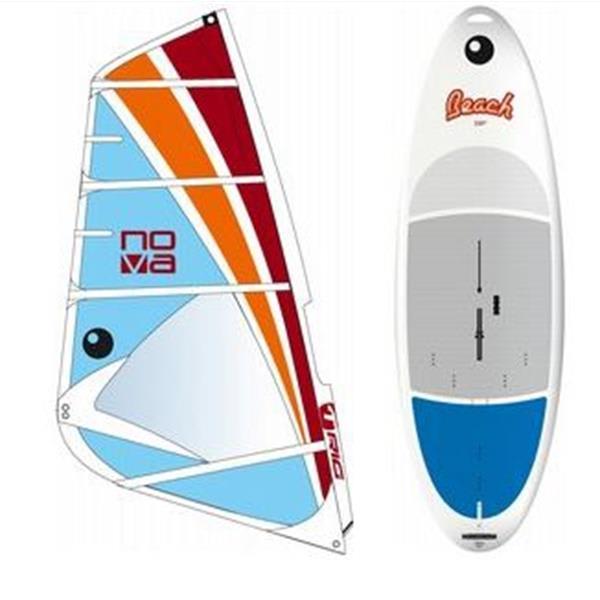Bic Beach Windsurf Board 225D W / Bic Nova Rig 5 5M U.S.A. & Canada