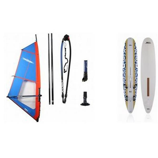 ona One Windsurf Board 220L W / Chinook Trainer Windsurf Rig 5 0M U.S.A. & Canada