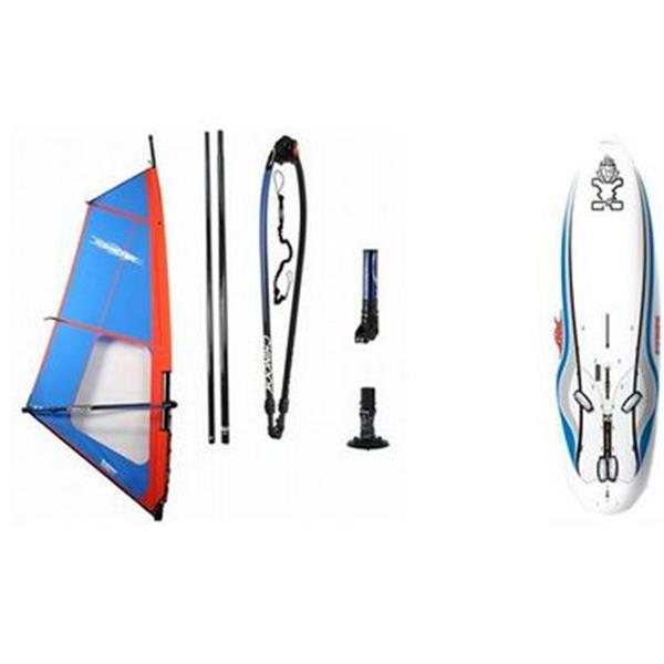 Starboard Rio Eva Windsurf Board Large (233L) W / Chinook Trainer Windsurf Rig 5 0M U.S.A. & Canada