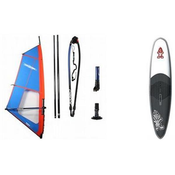 Starboard Super Slick Windsurf Board 12' W / Chinook Trainer Windsurf Rig 5 0M U.S.A. & Canada