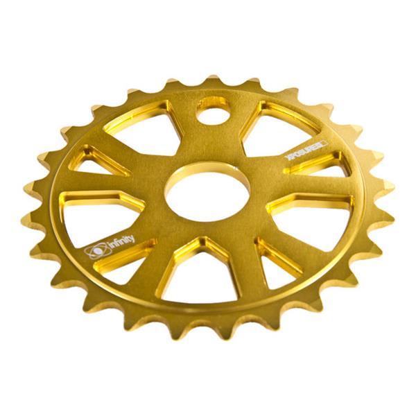 Xposure Infinity Chain Wheels Gold 25T U.S.A. & Canada