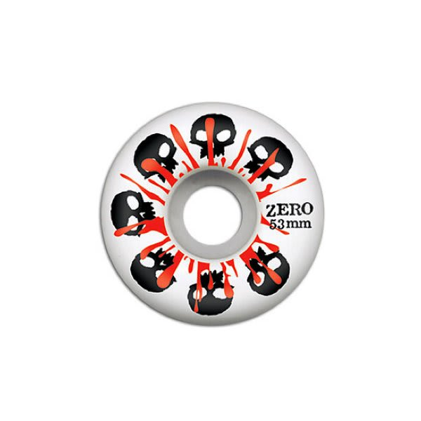 Zero Skulls W / Blood Skateboard Wheels White 53Mm U.S.A. & Canada